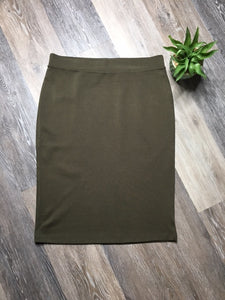 e1e4697aa18 OLIVE GREEN PONTE KNIT PENCIL SKIRT – Anchored In Hope Boutique