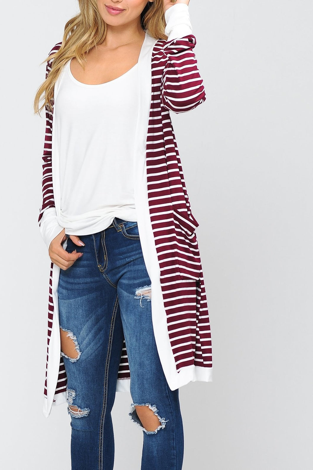 STRIPED CARDIGAN - MULTIPLE COLORS