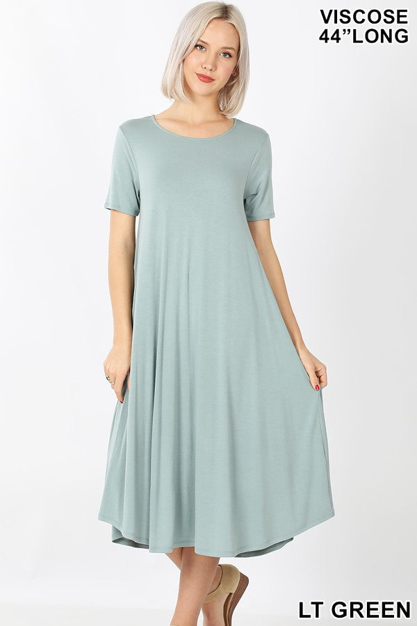 LIGHT GREEN SWING DRESS