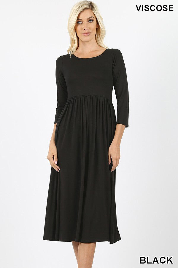 BLACK EMPIRE DRESS