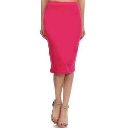 EVERYDAY PENCIL SKIRT - FUCHSIA