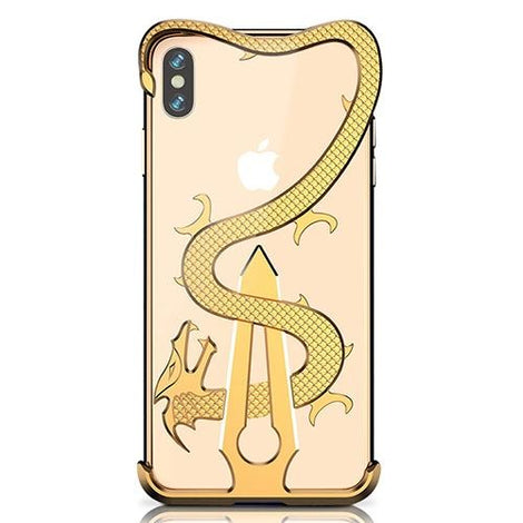 Gold Sword and Dragon Armor iPhone Case - Mister LUX
