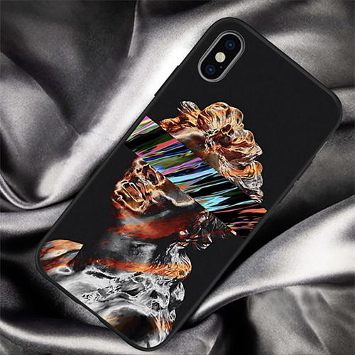 Abstract Art Statue Colored White Noise iPhone Case - Mister LUX