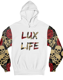 Skull and Roses Lux Life Hoodie - Mister LUX