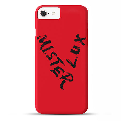 Mister Lux V Writing iPhone Case
