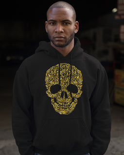 Mister Lux Gold Skull Hoodie