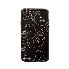 Abstract Line Art Case - Black - Mister LUX