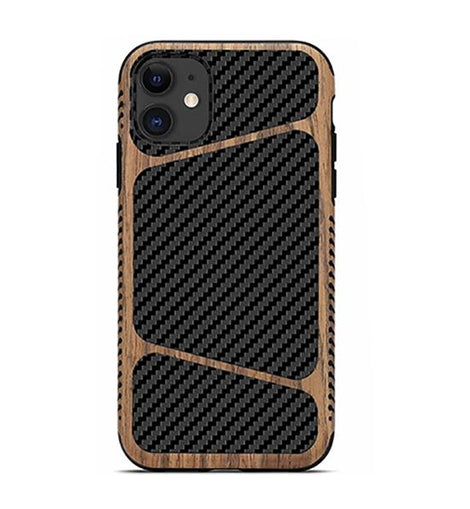 Carbon Fiber and Wood Luxury iPhone Case - Mister LUX
