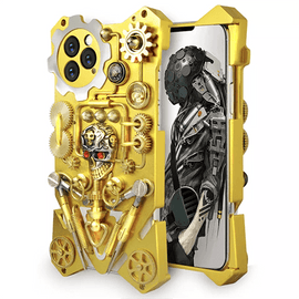 Skull Armor Metal Interactive Gears iPhone Case - Mister LUX