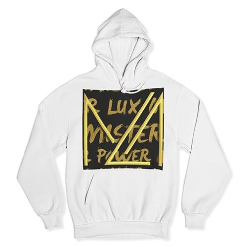 Big ML Zoom Logo Black and Gold Hoodie