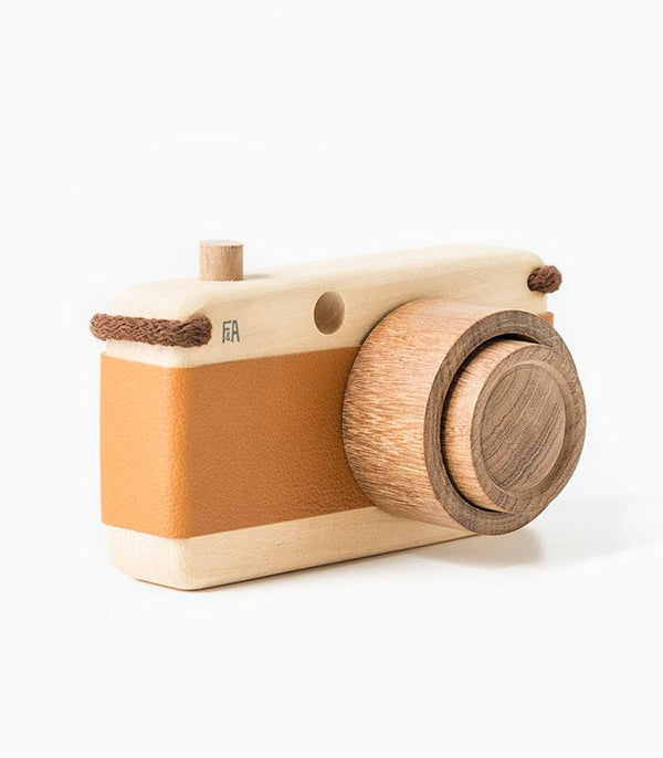 Photo camera wooden model