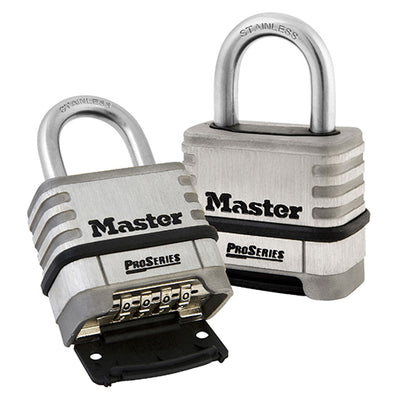 MASTER PROSERIES STAINLESS STEEL COMBINATION PADLOCK 1174D