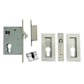 ZANDA SQUARE SLIDING DOOR EURO LOCK KIT