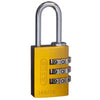 ABUS 3-WHEEL 20MM COMBINATION ALUMINIUM PADLOCK 145/20 VARIOUS COLOURS