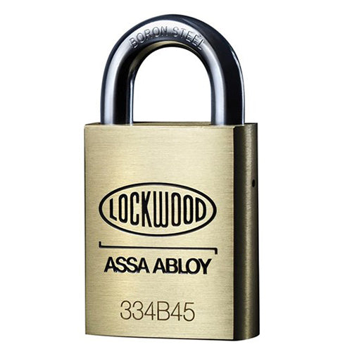 LOCKWOOD HIGH SECURITY 334 SERIES BRASS PADLOCK