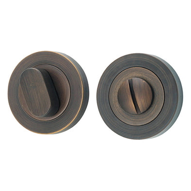 TRADCO FORGED BRASS ROUND CONCEALED FIX PRIVACY TURNS