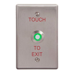 ACSS TOUCH TO EXIT BUTTON ILLUMINATED GREEN WIDE