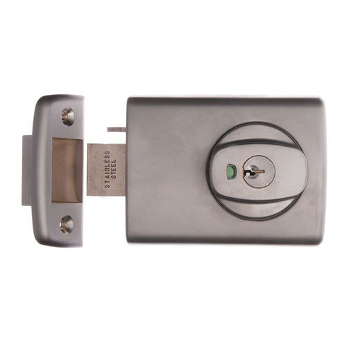 LOCKWOOD 001-4 DEADLATCH SATIN CHROME PEARL (OPEN OUT DOOR)