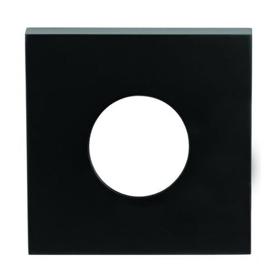 LOCKWOOD VELOCITY SMALL ROSE SQUARE TRIM ESCUTCHEON (MATT BLACK)