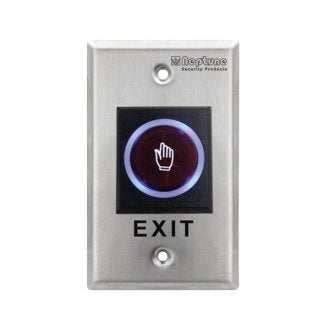 NEPTUNE TOUCHLESS EXIT - ANSI,NO/NC/C,LED,0.9mm SS,12V