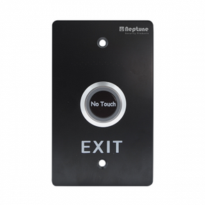 NEPTUNE TOUCHLESS EXIT,ANSI,NO/NC/C,LED,1.7mm SS,12-24V,BLACK