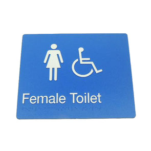 FEMALE DISABLED TOILET SIGN