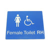 FEMALE DISABLED TOILET SIGN (RIGHT HAND)