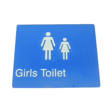 GIRLS TOILET SIGN