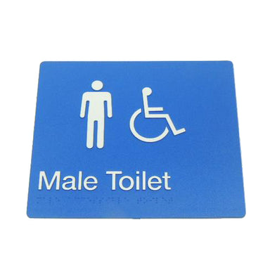 MALE DISABLED TOILET SIGN
