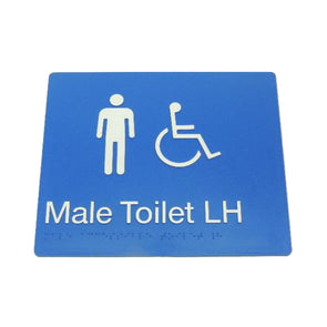MALE DISABLED TOILET SIGN (LEFT HAND)