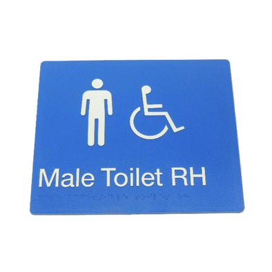 MALE DISABLED TOILET SIGN (RIGHT HAND)