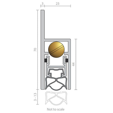 RAVEN AUTOMATIC BOTTOM DOOR SEAL RP38SI (CLEAR ANODISED)