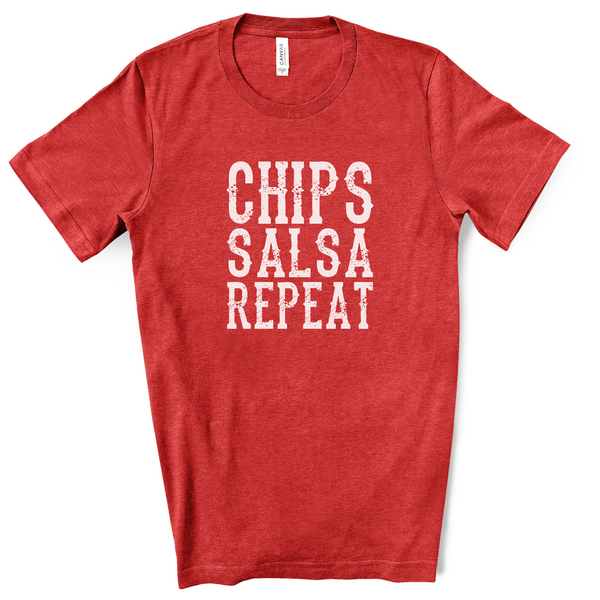 Chips Salsa Repeat Tee v.2