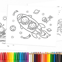 Fun Days Coloring Book Pages