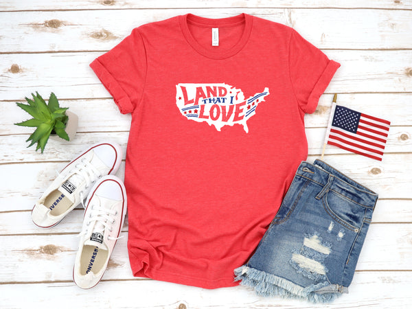 Land that I Love Heather Red Tee