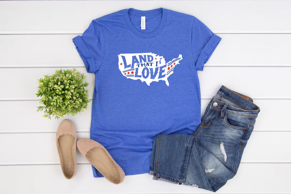 Land that I Love Heather Royal Tee