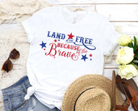 Land of the Free Tee- White