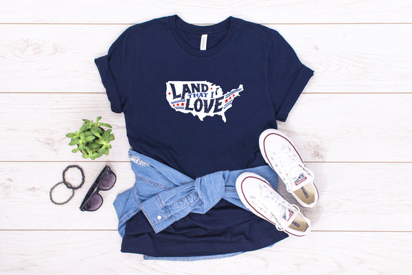 Land that I Love Navy Tee