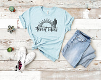 Desert Vibes Tee Heather Prism Ice Blue