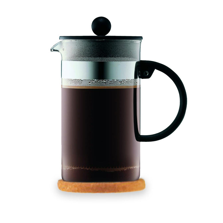 BODUM ~ Bistro NouveaU Coffee Maker 12 Cup With Cork Mat