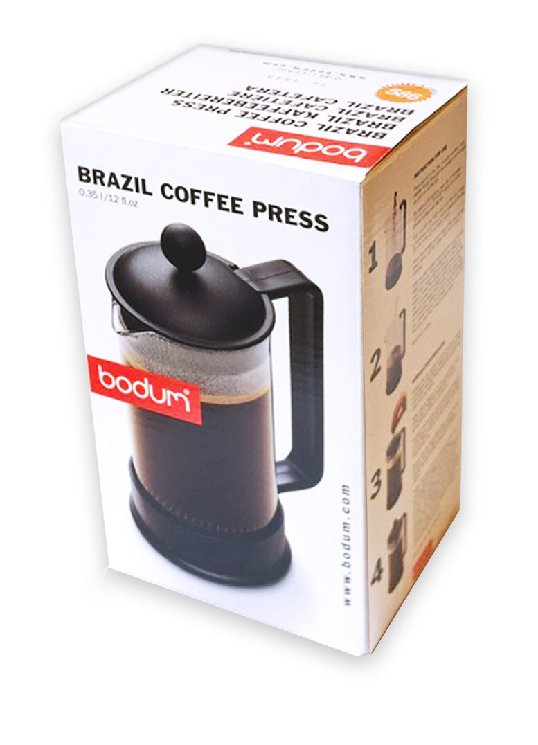 BODUM ~Brazil 3 Cup / 12oz French Press Coffee Maker, Orange