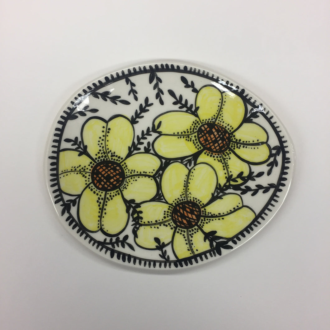 Yellow Blooms Munchie Plate