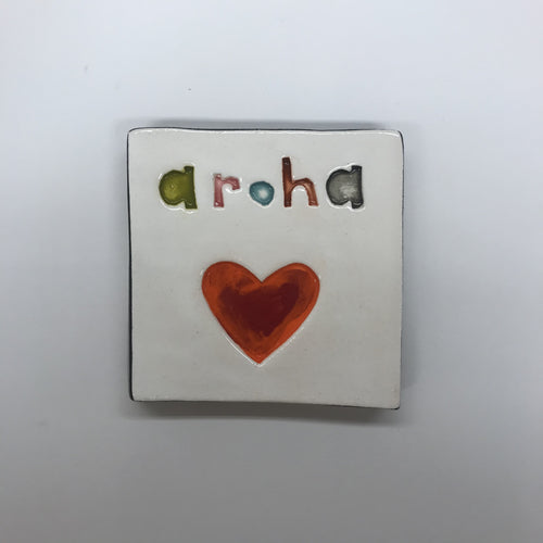 Aroha Square Word Tile