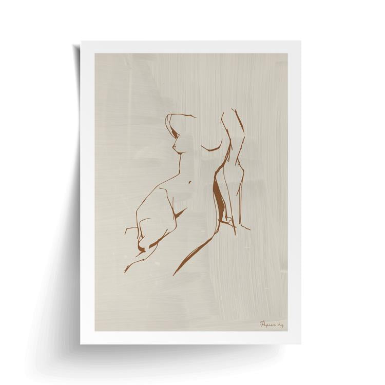 Figure Print Framed