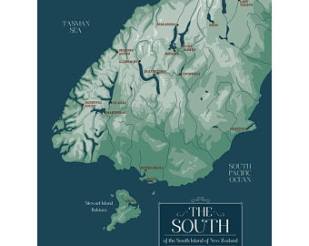 South of the South Tea Towel