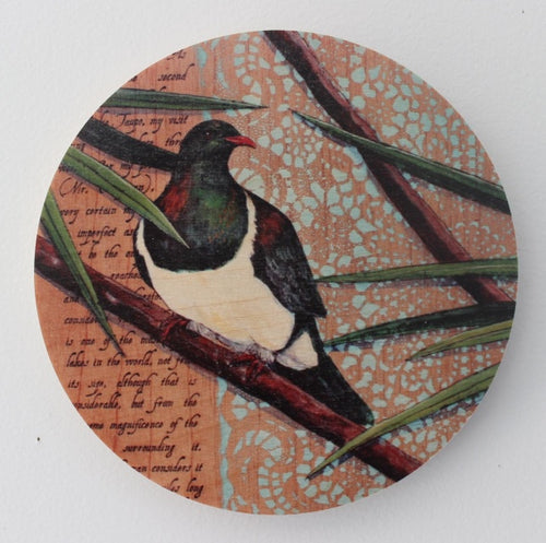 Round Ply Bird Wall Art - Kereru