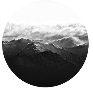 Sentinel Peak Black + White Art Dot