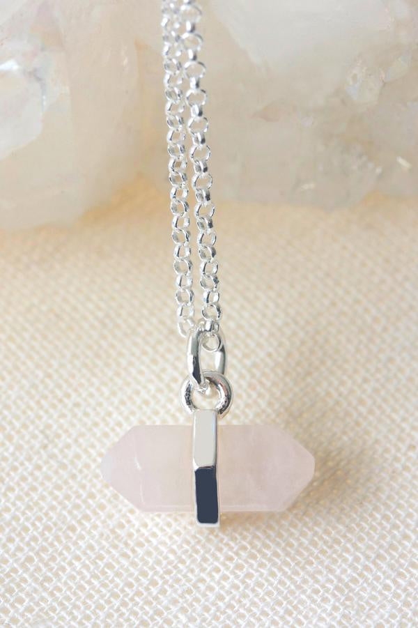 Rose Quartz Intention Necklace