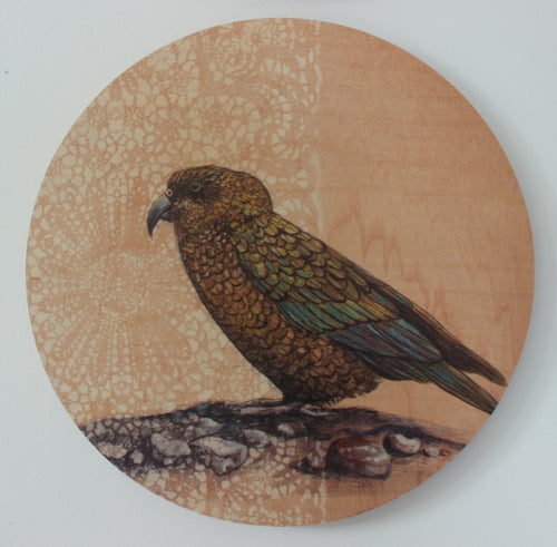 Round Ply Bird Wall Art - Kea