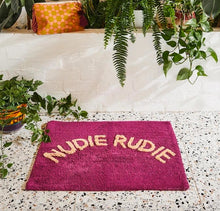 Load image into Gallery viewer, Nudie Rudie Bathmat - Boysenberry